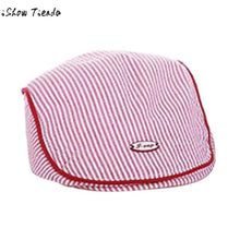 fashion 2018 Baby Hat Striped Button Cute Infant
