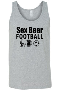 Men's Sex Beer Football Tank Top Shirt