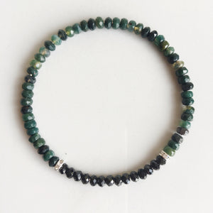 Balance & Protection, 4mm Black Onyx and Moss