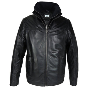 Mens Oxford Csaba Leather Jacket - Clearance