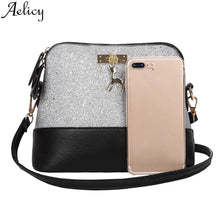 Load image into Gallery viewer, Women  Fashion Zipper Sequins Small Deer Leather Purse Mobile Phone