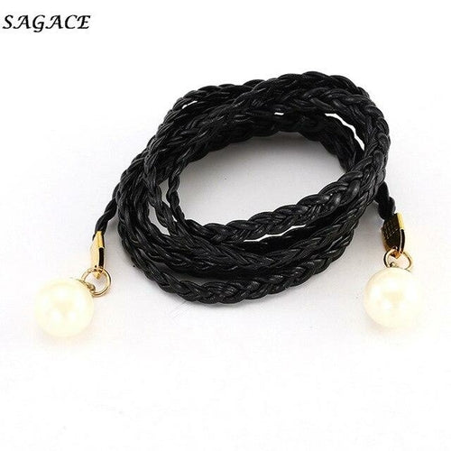 Fashion Belts Women  Imitation Leather Candy Colors Hemp Rope Braid