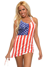 Shore Trendz Women's USA Distressed Flag Burnout