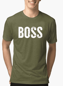 Boss Half Sleeves Melange T-shirt