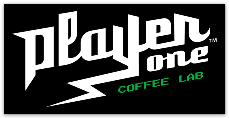 player one coffee sticker