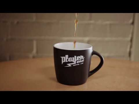 Player One Coffee 10oz Two-Tone Ceramic Mug