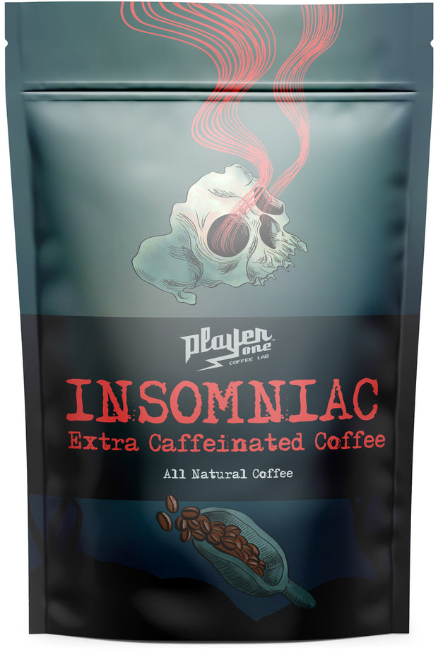 insomniac extra caffeine strong coffee