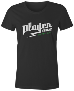 player one coffee women's shirt