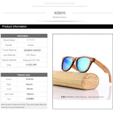 KITHDIA Zebra Wood Style Polarized Handmade Bamboo Mens Sunglasses