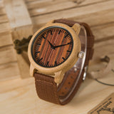 BOBO BIRD Mens Wooden Luxury Design Watch With Quartz Movement - Bushkin Travel Tech