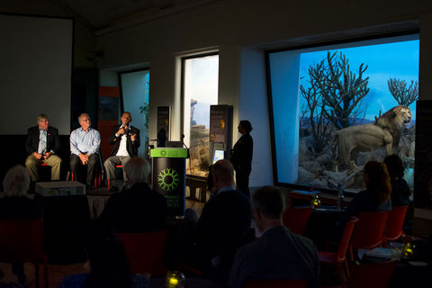 During the discussion panel about Sustainability of the Galapagos. Photo by: Juan Manuel García, CDF.