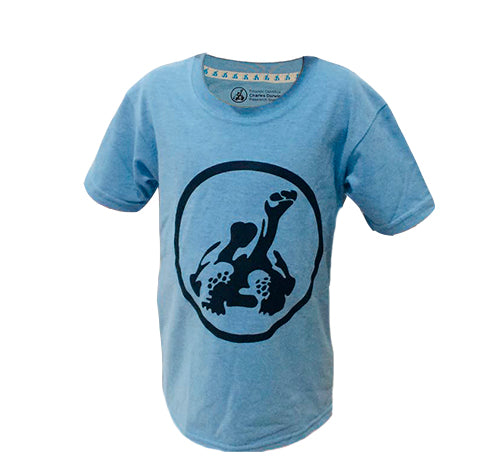 Boy´s T-Shirt / Marbled Blue Logo CDF