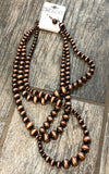 Necklace & Earrings with Multi-Strand Copper Beads