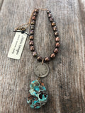 Necklace, Buffalo Nickel & Chrysocolla