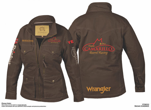 Jacket, Chocolate, Team Logo