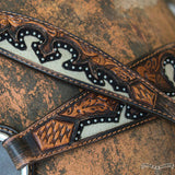 Wither Strap, Basketweave Acorn & White Inlay