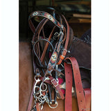 Headstall, Beaded Southwest Distressed Filigree