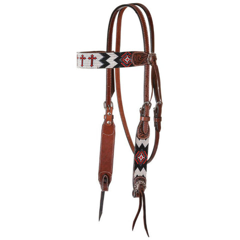 Headstall, Beaded Cross Infinity