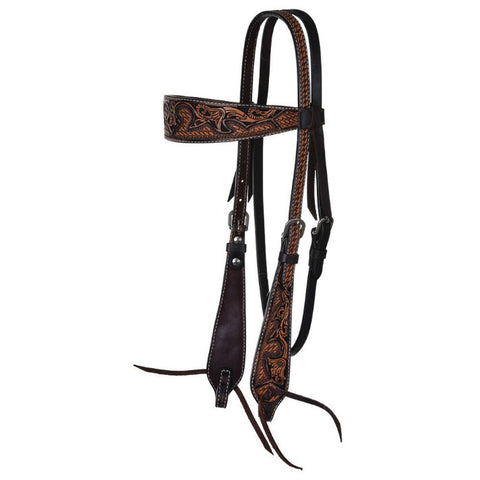 Headstall, Basketweave Acorn & Chocolate Inlay