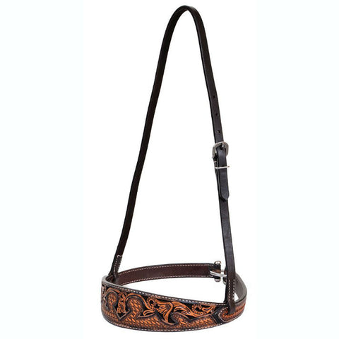 Noseband, Basketweave Acorn & Chocolate Inlay