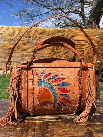 Handbag with Indian Motif