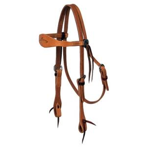 7110 Shaped Browband Headstall, Harness Leather