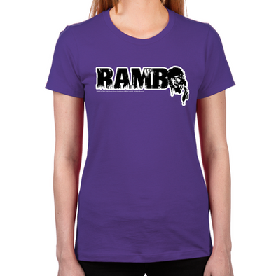 R is for Rambo Women's Fitted T-Shirt