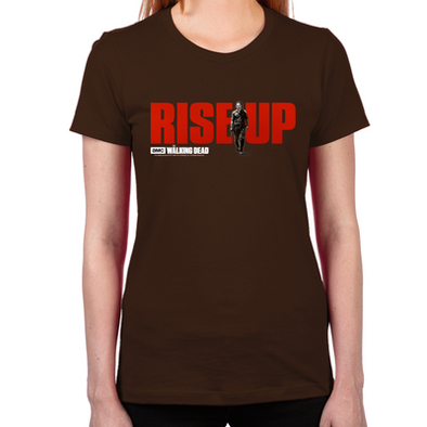 Rise Up Walking Dead Women's Fitted T-Shirt