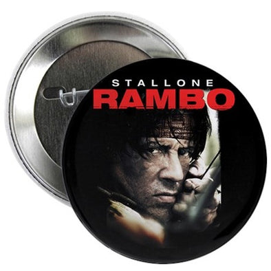 "Rambo Close Up 2.25"" Button"