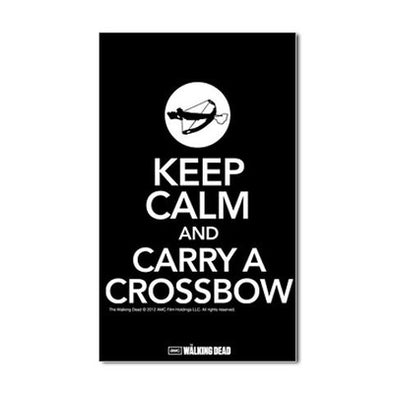 Keep Calm and Carry a Crossbow Sticker