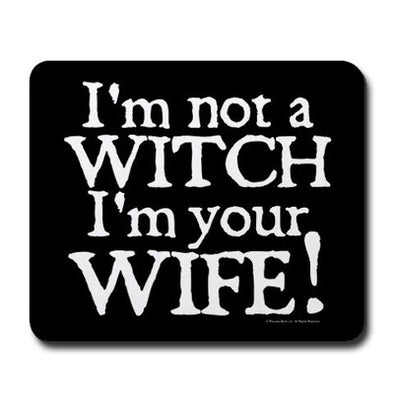 Witch Wife Mousepad
