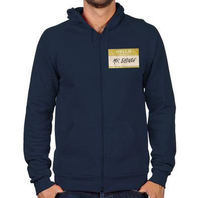 Hello Mr. Blonde Zip Hoodie