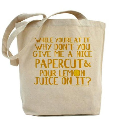 Lemon Juice Tote Bag