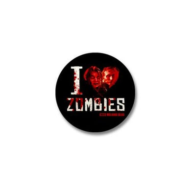 I Heart Zombies Mini Button