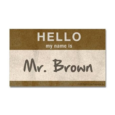 Hello Mr. Brown Sticker