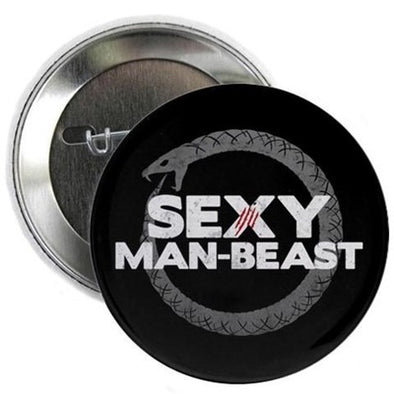 "Sexy Man Beast 2.25"" Button"