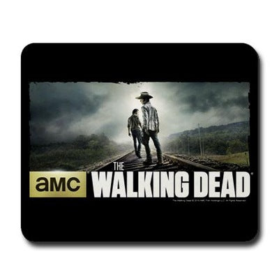 Carl and Rick Grimes Don't Look Back Mousepad