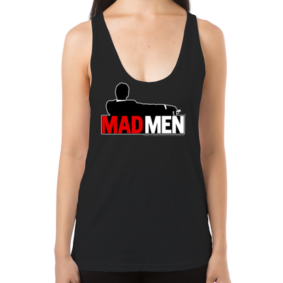 Mad Men Truth Lies Women's Racerback Tank