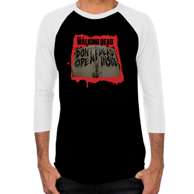 Don't Open Dead Inside Men's Baseball T-Shirt