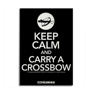 Walking Dead Keep Calm Carry a Crossbow Magnet