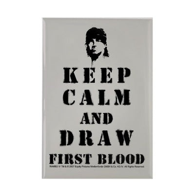 Keep Calm Rambo Magnet