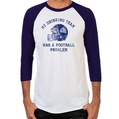 Blue Mountain State Drinking Team Men's Baseball T-Shirt