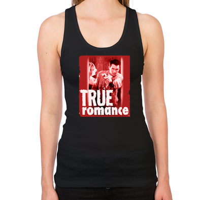 True Romance DVD Art Women's Racerback Tank