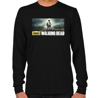 Carl and Rick Grimes Don't Look Back Long Sleeve T-Shirt