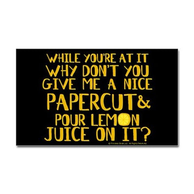 Lemon Juice Sticker