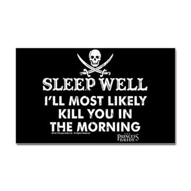 Sleep Well Sticker