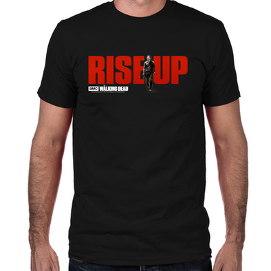 Rise Up Walking Dead Fitted T-Shirt