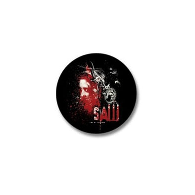 Saw Bear Trap Mini Button