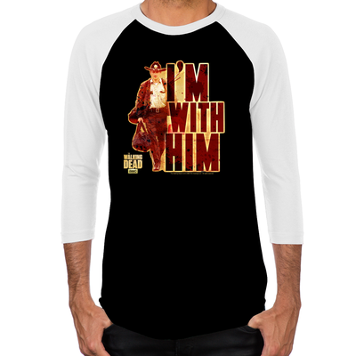 Walking Dead Rick Grimes I'm With Him Men's Baseball T-Shirt