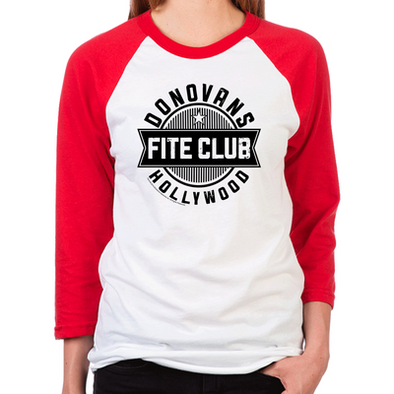 Donovan's Hollywood Fite Club Women's Baseball T-Shirt